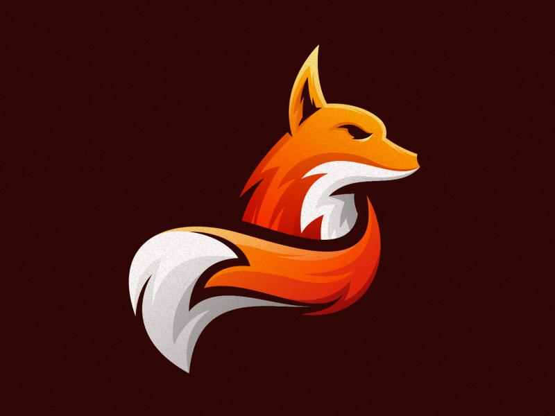 Flat & Minimal Fierce Looking Fox Logo Design Inspiration